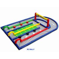 Buy cheap 0.55mm Plato PVC Inflatable Remote Control Mini Race Track For Children Play from wholesalers