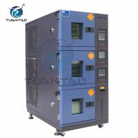 Buy cheap Custom 3 Layer Temperature Humidity Environmental Test Chamber With LCD Touch Screen Controller product