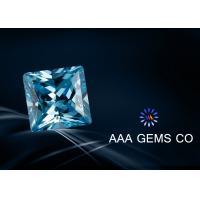 5mm Princess Square Shape Synthetic Moissanite Blue Engagement Rings Moissanite