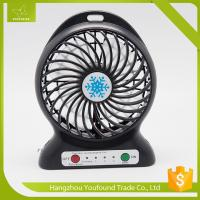 Quality BS-5600 Battery Operated Mini Fan USB Cord Charging DC Small Plastic LED Table Fan for sale