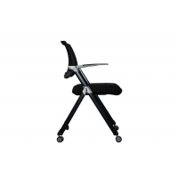 Buy cheap Indoor 4 Wheels Metal Plastic Ergonomic Folding Office Chair from wholesalers