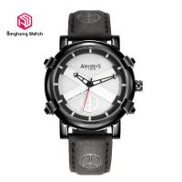 Buy cheap Quartz Male / Mens Genuine Leather Strap Watches Waterproof 42mm Dial Sports Design from wholesalers