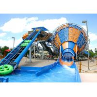 Fiberglass Tornado Water Slide Aqua Park Equipment Maximum Speed 12.7m/S