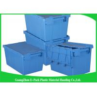 Buy cheap 45L Plastic Box With Hinged Lid Rentable Moving , Large Plastic Storage Bins For Packaging from wholesalers