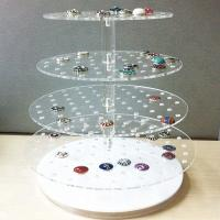 Buy cheap Desktop Acrylic Jewelry Organizer Jewelry Exhibition Acrylic Display Tray For Ring product