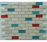 Buy cheap Crystal Glass Mosaic Tiles, 8mm Marble Mosaic Wall Tiles Backsplash from wholesalers