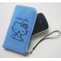 Buy cheap Mobilephone bag with zipper, flocking mobilephone bag product