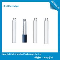 Buy cheap Professional Insulin Pen Cartridge Glass Dental Cartridges With Rubber Stopper 3ml from wholesalers