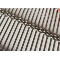 China Wire Rod Architectural Wire Mesh , Exterior Wall Metal Fabric Partition on sale