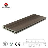 Buy cheap Sunshien WPC engineered flooring with co-extrusion technology decking 150H22 wood grain from wholesalers