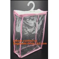Buy cheap manufacture clear plastic pvc hanger bag with snap,Eco Friendly Transparent Foldable Coat Plastic Stereo Hanging Hook Ha from wholesalers