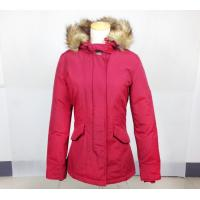 Casual Style Hooded Fur Collar Thick Padded Long Coat Outerwear Jacket