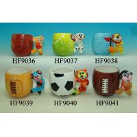 Buy cheap Dog Handle Custom Ceramic Mugs For Hot Chocolate , Basketball Coffee Cup from wholesalers