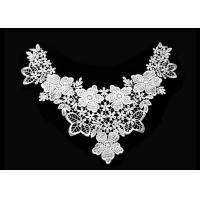 Buy cheap Floral Flower Crochet Lace Collar For White Lace Top / Crochet Lace Top Women from wholesalers