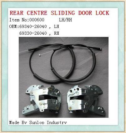 Toyota Hiace Parts Rear Centre Sliding Door Lock 000600 L
