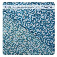 Buy cheap Double Color Cotton Nylon Lace Fabric For Home Textile / Eyelash Lace Fabric from wholesalers