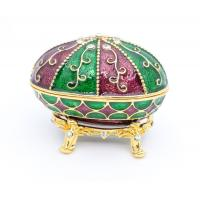 Buy cheap Faberge Egg Trinket Box Faberge Egg Jewelry Box Metal Gift Box gold metal jewelry box from wholesalers