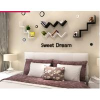 Buy cheap English letters decoration Personalized Wooden Name Plaques Word Letters 3D Wall sticker Door Art Wedding Photo Props from wholesalers