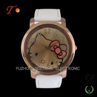Buy cheap Colorful PU leather strap watches for young girls and cute hello kitty  dial watch for sell from wholesalers