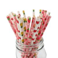 Buy cheap Customer Printed Paper Party Straws 0.25 Inches Diameter Durable Reusable from wholesalers