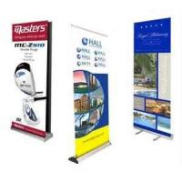 Buy cheap Portable anodized silver finish aluminum alloy 80cm width 200cm height Roll up Banner Stands  from wholesalers