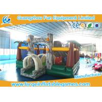 Buy cheap Jungle inflatable bouncer and funland for kids ,  inflatable amusement park with bouncer slide from wholesalers