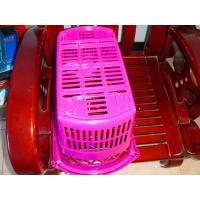 China Plastic Shopping Baskets With Telescopic Handle on sale