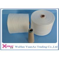 Raw White Virgin 100 Polyester Yarn Z Twist Good Evenness for Sewing