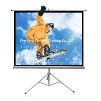 Buy cheap HD 3D Portable Projection Screen Tripod Stand Projection Screen Fast Fold Self Lock Screen from wholesalers