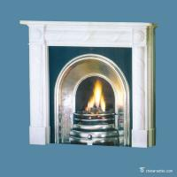 Buy cheap China marble White / Gray Marble Fireplace Surround , Durable Marble Tile Fireplace Hearth from wholesalers