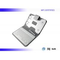Buy cheap Portable MFI iPad Apple Keyboard Leather Case Wired 8 Pin Connector product