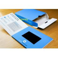 Buy cheap Hard paper 4.3 Video Brochure /  video greeting card Flip Book from wholesalers