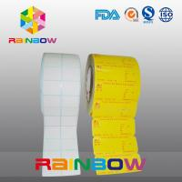 Buy cheap No Print White / Colorful Blank Paper Roll Plain Self Adhesive Label With Custom Size from wholesalers
