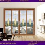 Buy cheap 2015 Aluminum Balcony design wooden colour tilt and sliding door from wholesalers