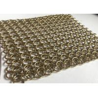 Buy cheap 1.2*10 Mm Flexible Architectural Stainless Steel Chain Mail Curtain Ring Mesh from wholesalers