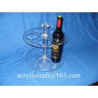 Buy cheap Perspex Wine Holder / Promotion Acrylic Wine Rack / Lucite Wine Bottle Display Stand from wholesalers