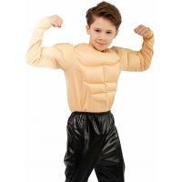 Buy cheap Holiday / Carnival Teen Boy Halloween Costume Kids Boy Muscle Shirt Costume from wholesalers