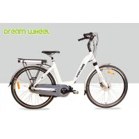Buy cheap White 36V 250W Electric Lady City Bike 700C Aluminum Frame Middle Motor from wholesalers