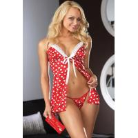 Buy cheap Her Passionate Hearts Sexy Babydoll Lingerie Costumes Red and White from wholesalers