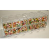 Buy cheap Custom Acrylic Candy Display Cases Boxes With 12 Drawers For Supermarket from wholesalers