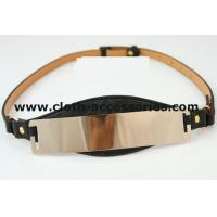 Buy cheap Rose Gold Womens Pu Cloth Belts Custom Waterproof  With Metal Mirror from wholesalers