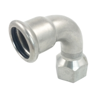 Buy cheap 90 Degree 304 316L BSPT Female Threaded Elbow from wholesalers