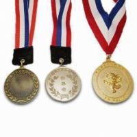 Buy cheap Customized engraved logo Sports Zinc alloy custom medals for Sports meeting and school from wholesalers
