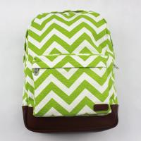Buy cheap Reusable Special Custom Canvas Backpacks Bright Stripe With Two Tones from wholesalers
