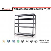 Buy cheap Black Heavy Duty Steel 5 Tier Wire Garage Shelving / Metal Shelf Unit from wholesalers