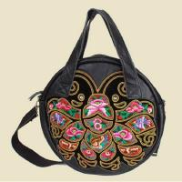 Buy cheap Chinese embroidery bag women messenger bag designer brand real leather bag from wholesalers