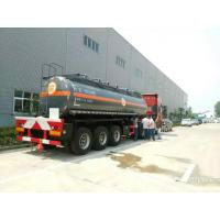 Buy cheap NaOH tank trailer -200000L-40000L Caustic soda  round dishhead truck trailer factory from wholesalers