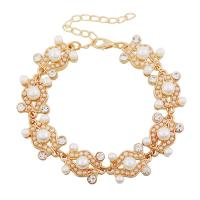 Buy cheap Latest high quality eco-friendly wholesale pearl gold chain bracelet party jewelry from wholesalers