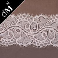 Buy cheap White, Black 10CM Width Popular Eyelash Lace Trim Fabric for Wedding Dresses LR-210 from wholesalers