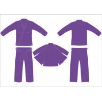 Buy cheap Female Jiu Jitsu Gi Purple Bjj Gi Women With Printed String 4 Loops product